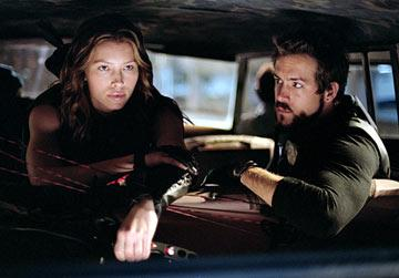 Jessica Biel and Ryan Reynolds in New Line Cinema's Blade: Trinity