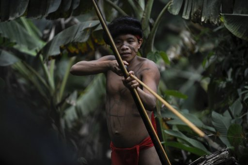 Un nativo Yanomami, 7 de setiembre de 2012, en la selva amaznica del sur de Venezuela.