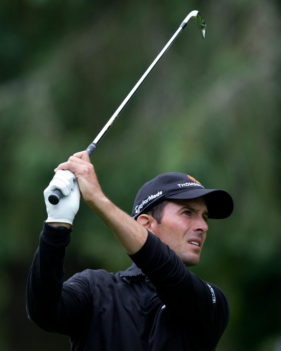 Canada's Mike Weir hits his approach shot on the 15th hole during a pro-am event at the Canadian Open golf tournament at Shaughnessy Golf and Country Club in Vancouver, British Columbia, on Wednesday, July 20, 2011. (AP Photo/The Canadian Press, Darryl Dyck)