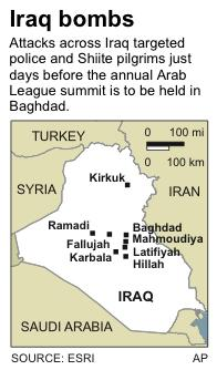 Adds two more locations to map of March 20, Iraq bombings.