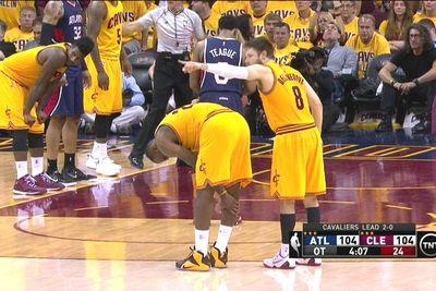 LeBron James stays in despite suffering foot injury in overtime