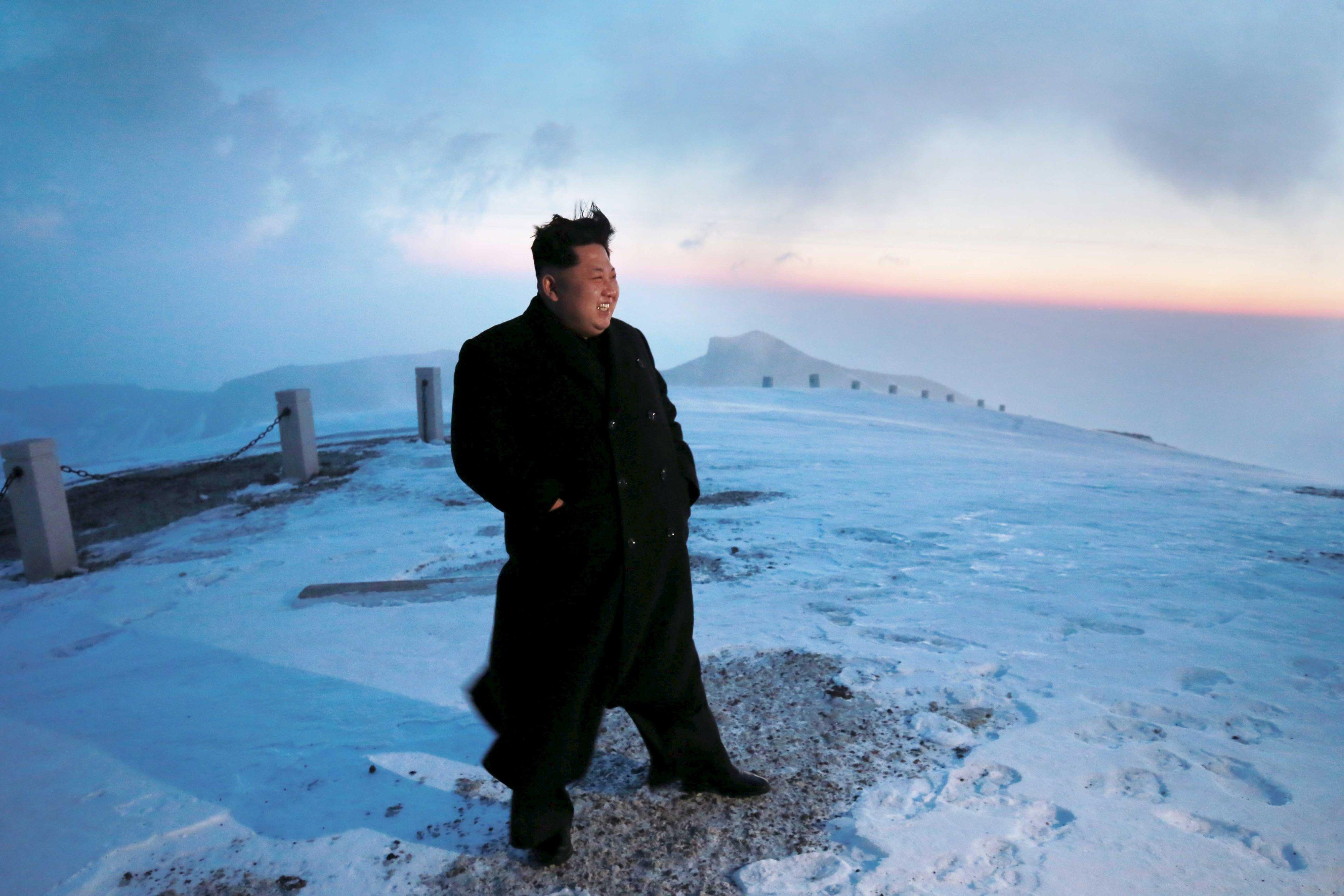Kim Jong-Un climbs North Korea's highest mountain: state media