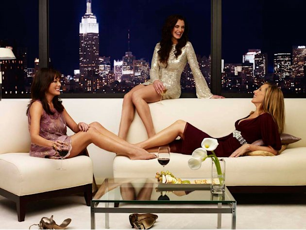 Lindsay Price as Victory, Brooke Shields as Wendy, and Kim Raver as Nico star in Lipstick Jungle.