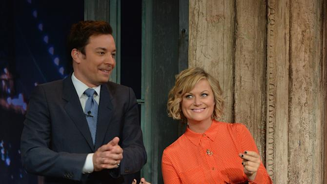 "Amy Poehler Visits ""Late Night With Jimmy Fallon"""