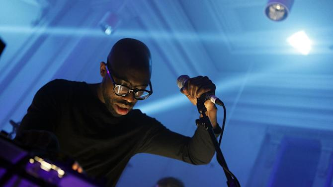 Nokia's Lumia Live Sessions: Ghostpoet perfoms at the Anglican Chapel in Bristol, England on Wednesday, March. 27, 2013. (Photo by Jim Ross/Invision/AP)