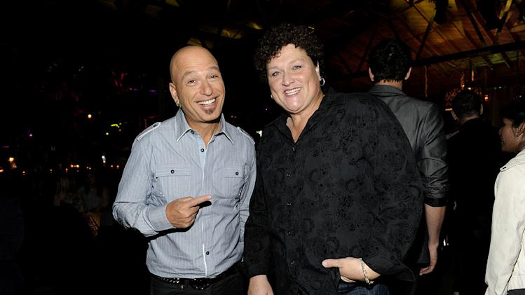 "Dot-Marie Jones of ""Glee"" and Howie Mandel of ""Mobbed"" at the 2011 Fox Fall Eco-Casino Party at The BookBindery on September 12, 2011 in Culver City, California."
