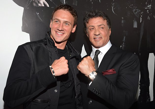 Ryan Lochte, Sylvester Stallone