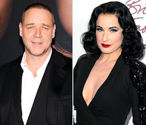 "Russell Crowe Denies Dating Dita Von Teese: ""Friends, Not Lovers"""