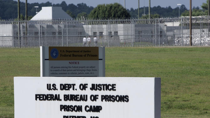 FILE - This Monday, July 13, 2009 file photo shows the Butner Federal Correctional Complex in Butner, N.C. Nearly 1,000 inmates with serious medical and mental health problems are kept at the Federal Medical Center in the Butner complex. According to a report released Friday, Nov. 30, 2012 and co-authored by Human Rights Watch, the per capita cost of caring for a prisoner in such a medical center in 2010 was $40,760, compared to the federal prison system's overall per capita cost of $25,627. (AP Photo/Gerry Broome)