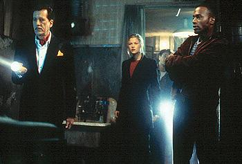 Geoffrey Rush , Ali Larter , Chris Kattan and Taye Diggs in Warner Brothers' House On Haunted Hill