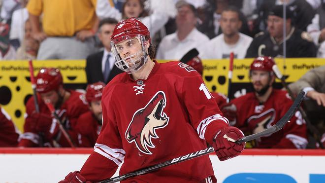 Rostislav Klesla #16 Of The Phoenix Coyotes Returns Getty Images