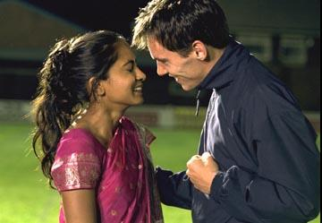 Parminder Nagra and Jonathan Rhys Meyers in Fox Searchlight's Bend It Like Beckham