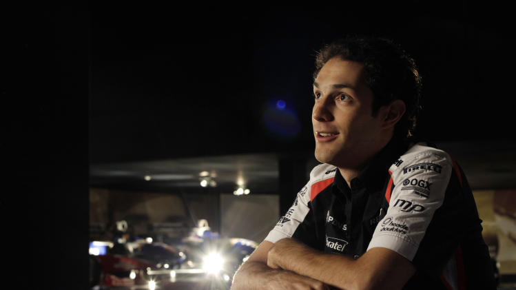 In this image made available by Williams F1 team,  Bruno Senna poses inside museum  of the Williams F1 Conference Centre, in Grove England. Tuesday Jan. 17, 2012. Nearly eighteen years after the death of triple world champion Ayrton Senna in a high-speed crash, the Senna name is returning to Williams Formula One team. Senna's 28-year-old nephew, Bruno, signed a one-year deal to partner Venezuelan driver Pastor Maldonado and give the British team an all-South American lineup going into the March 18 opener in Australia. (AP Photo/ Glenn Dunbar/Williams F1, Ho)