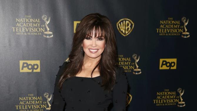 Marie Osmond poses backstage at the 42nd Annual Daytime Emmy Awards in Burbank