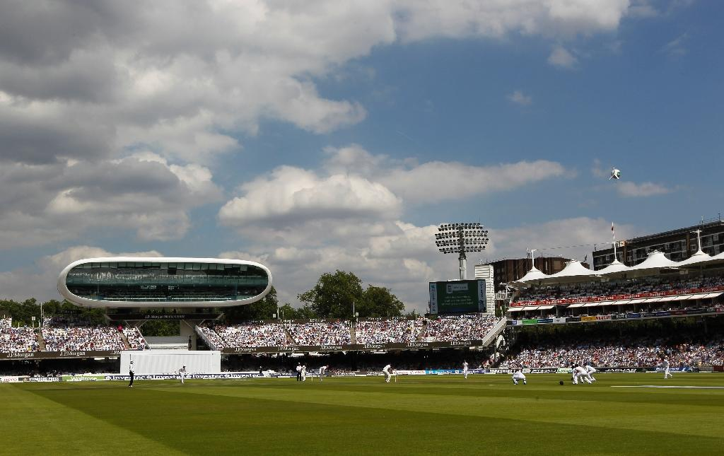 Father Time flattened at Lord's Cricket Ground