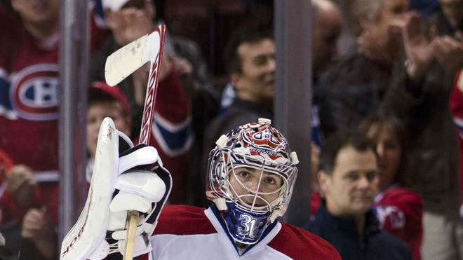 Goalie Carey Price #31 Of The Montreal Canadiens Salutes Getty Images