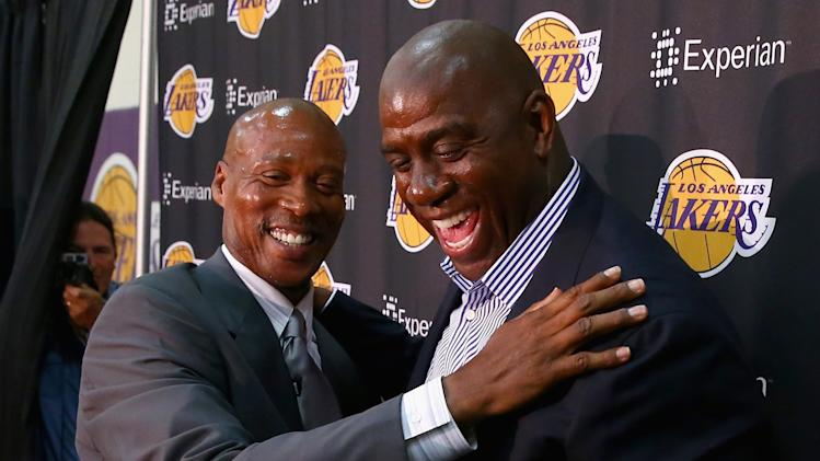 Los Angeles Lakers Introduce Byron Scott