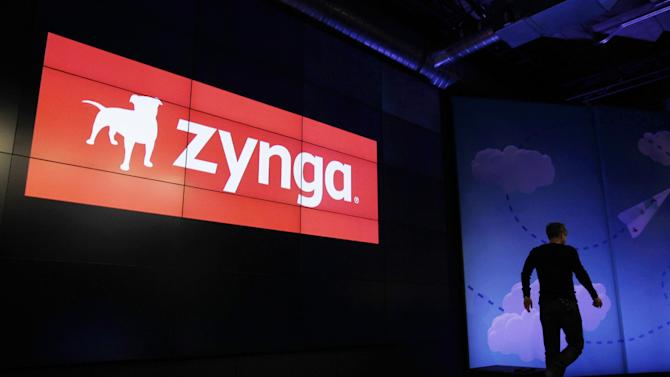 "In this June 26, 2012 photo shows Zynga CEO Mark Pincus walks off the stage after an announcement of new games at Zynga headquarters in San Francisco. Not long ago, online games company Zynga looked on pace to unseat much bigger, well-established rivals as it rode the popularity of ""FarmVille,"" the clicking game of virtual cows and real money. But the iPad came along, and more people bought smartphones. People weren't playing Zynga's games on Facebook and computers as much as they used to. Zynga's revenue growth slowed down, and its stock price fell sharply, even as it released dozens of new games. Now, the out-of-luck game maker is turning to a ""FarmVille"" sequel, released on Wednesday, Sept. 5, 2012,  for a revival. (AP Photo/Paul Sakuma)"