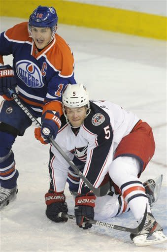 Dubnyk, Nugent-Hopkins help Oilers blank Columbus