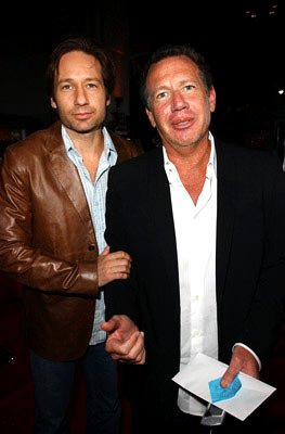 David Duchovny and Garry Shandling at the Hollywood premiere of Universal Pictures' Friday Night Lights
