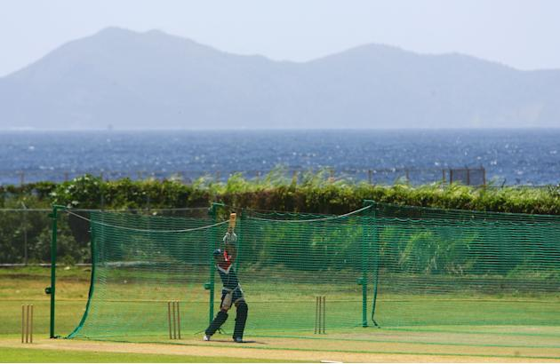 England nets in St Vincent