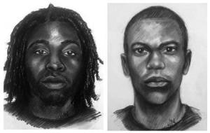 Combination of sketches issued by the Clayton County Police Department show suspects in the abduction of a 14-year-old girl