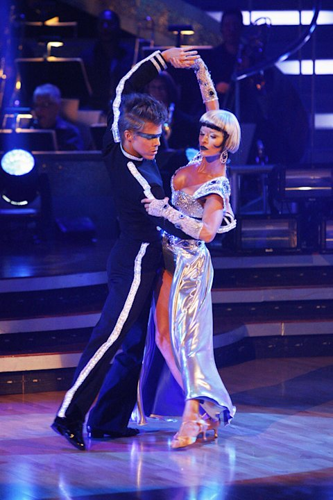 "Joanna Krupa and Derek Hough perform on ""Dancing with the Stars."""