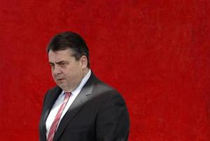 Germany's SPD leader Gabriel arrives for party board meeting in Berlin