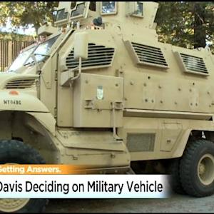 Fate Of Military Surplus Vehicle Will Go Before Davis City Council On Tuesday