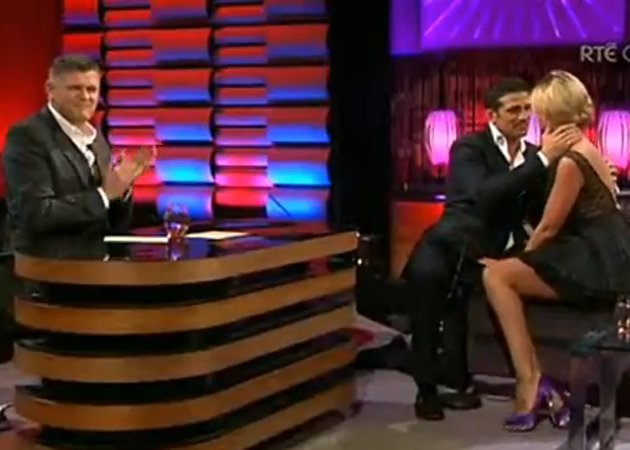 October 2011: Alex proposes to Chantelle on live television, she accepts