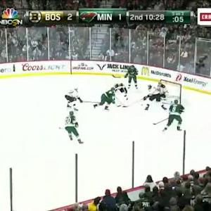 Niklas Svedberg Save on Zach Parise (09:33/2nd)