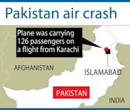 A passenger plane crashed while trying to land during bad weather near Islamabad on Friday, police said