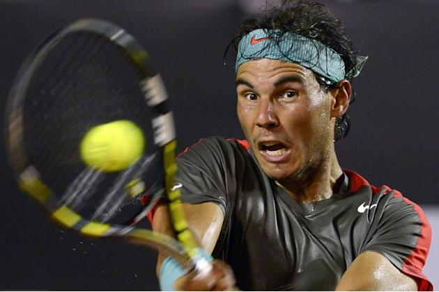 Rafael Nadal pictured at the Rio Open in Brazil on February 20, 2013