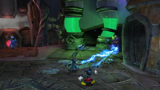 """In this vide game image released by Disney, a scene is shown from """"Epic Mickey 2."""" (AP Photo/Disney)"""