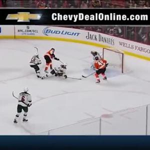 Mark Streit Goal on Darcy Kuemper (14:31/2nd)