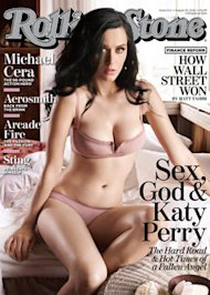 Katy Perry wore nude underwear for this magazine cover, but given a choice we bet she'd prefer her cupcake bra. Photo courtesy of Rolling Stone