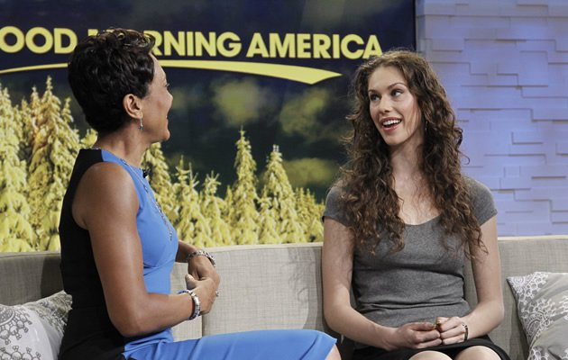 Cassandra on the Good Morning America talkshow (Getty Images)