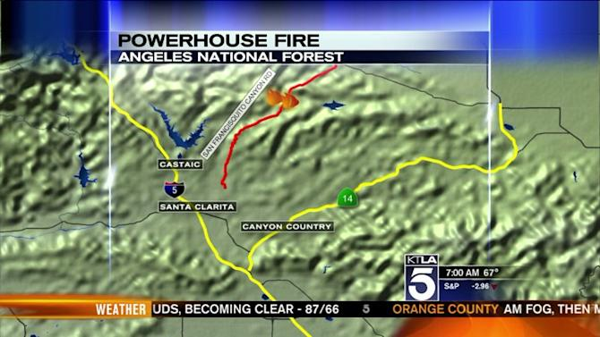 New Evacuations in Powerhouse Fire Near Castaic