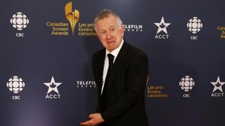 Ron James on the red carpet as he arrives at the 2014 Canadian Screen awards in Toronto