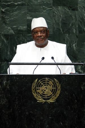 Mali's President Ibrahim Boubacar Keita addresses the 69th United Nations General Assembly at the U.N. headquarters in New York