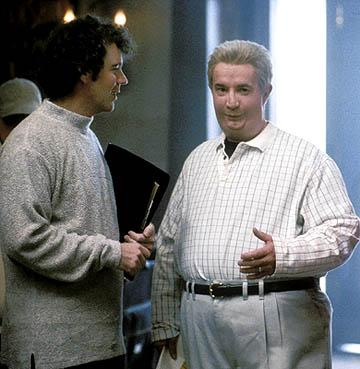 Director Vadim Jean and Martin Short on the set of Gold Circle's Jiminy Glick in La La Wood