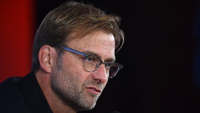 New Liverpool manager Jurgen Klopp speaks at a press conference at Anfield on October 9, 2015
