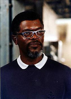 Samuel L. Jackson as Russell Franklin in Warner Brothers' Deep Blue Sea