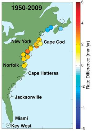 Northeastern U.S. Coast Is 'Hotspot' for Sea-Level Rise