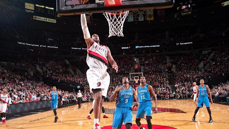 Blazers snap Thunder's streak with 111-104 win