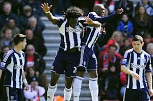 Southampton 0-3 West Brom: Baggies batter nine-man Saints