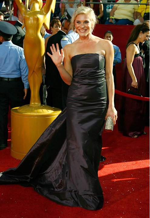 Katee Sackoff arrives at the 60th Primetime Emmy Awards at the Nokia Theater on September 21, 2008 in Los Angeles, California.