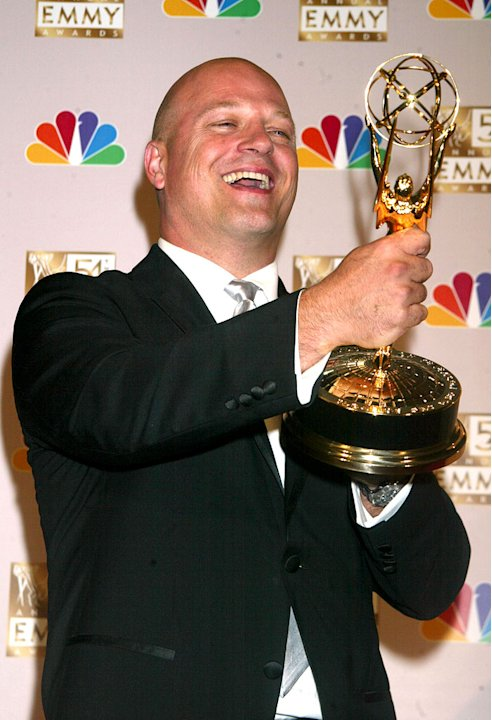 Michael Chiklis, winner of Best Lead Actor In A Drama Series for &quot;The Shield&quot; at the 54th Annual Emmy Awards. 