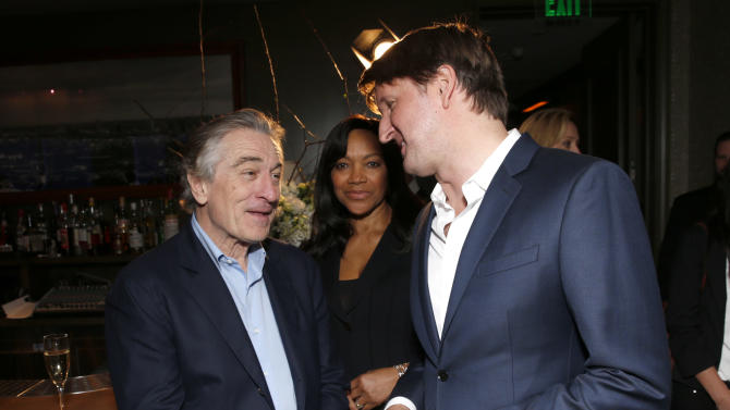 Robert De Niro, Grace Hightower and Tom Hooper attend the Australian Academy Of Cinema And Television Arts' 2nd AACTA International Awards at Soho House on January 26, 2013 in West Hollywood, California. (Photo by Todd Williamson/Invision/AP Images)