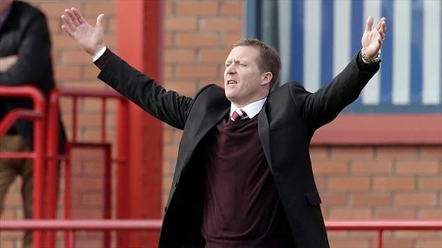 Hearts manager Gary Locke has endured a difficult summer